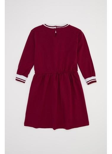 DeFacto Kız Çocuk Harry Potter Lisanslı Elbise Bordo